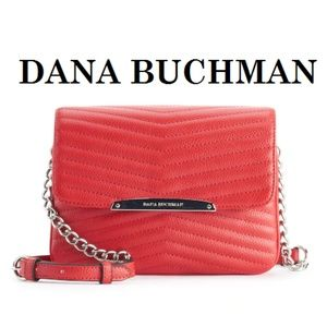 DANA BUCHMAN Chic Red Quilted Leather Bag BNWT